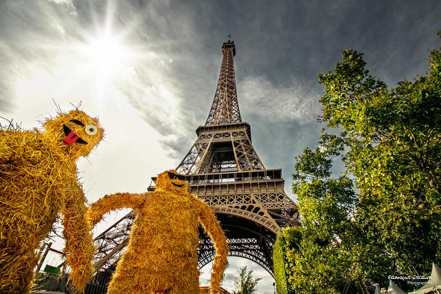 Eiffel Tower and weird friends