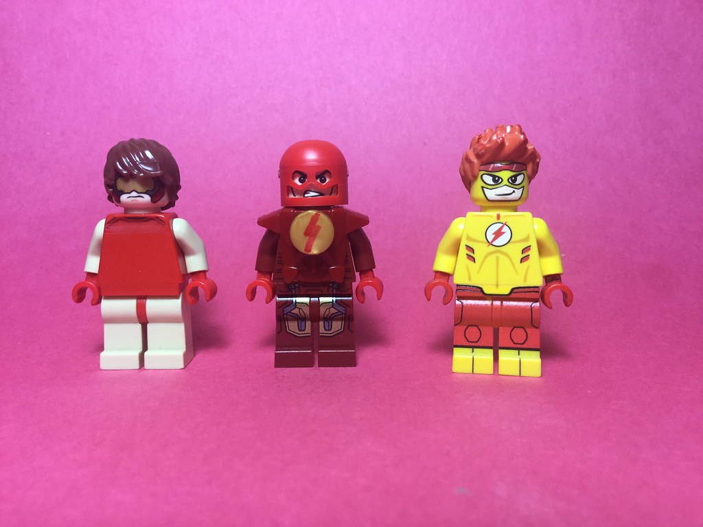 DC figs #5 : Flash family | Left to Right- Bart Allen also k