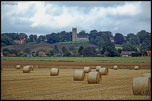 church landscape view bales buildings westkeal lincolnshire sthelenwestkeal strawbales