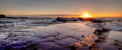 seascape beach sunrise landscape colours australia d90 culburra