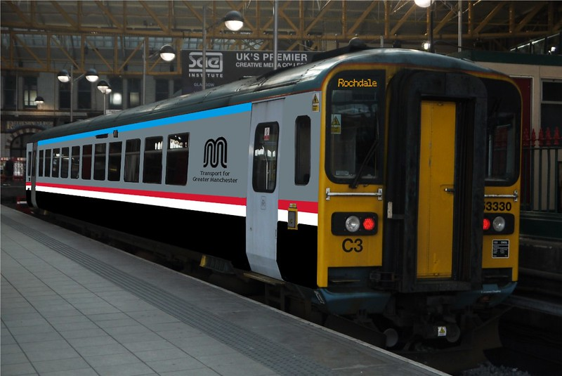 The Shape of Things to Come? Class 153, TfGM Livery, some time in 2017?