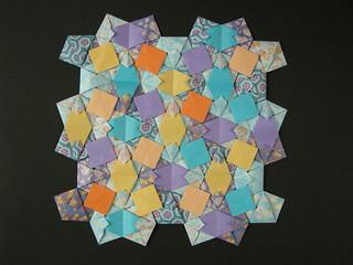 Cordovan pentagon quilt (opus XLV), reverse | by Mélisande*