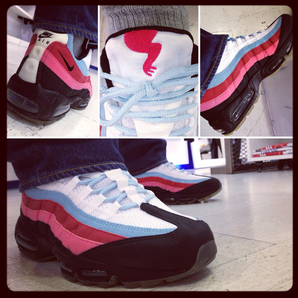 Nike Air Max 95 x Parra 'Running Man' 'White Black Blu