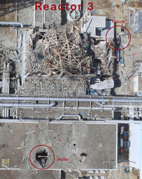 fukushima daiichi unit 3 turbine building hole