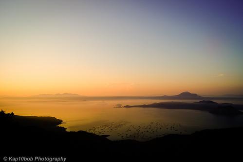 lake landscape volcano twilight philippines goodmorning tagaytay taal goldenhour a77 sonyalpha kap10bob