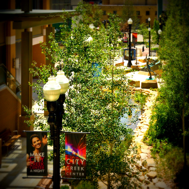 Downtown Salt Lake City Living: City Creek Center Mall 2012