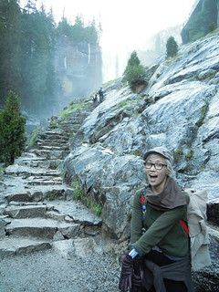 Hiking (and Climbing) Half Dome: Vernal Falls - so many stairs.   by mormolyke