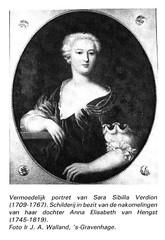 <p>Vermoedelijk portret van Sarah Sibilla Verdion (1709-1767). Schilderij in bezit van de nakomelingen van haar dochter Anna Maria van Hengst (1745-1819). Foto: F.J.A. Walland.</p>