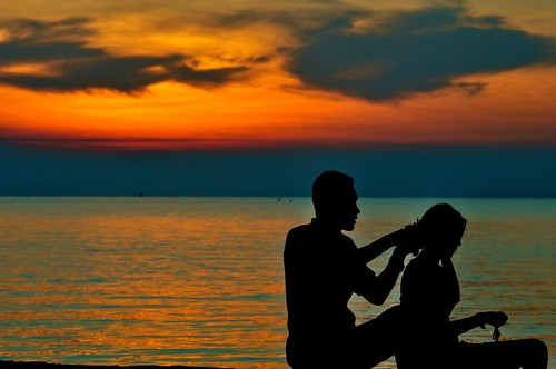 sunset silhouettes johor muar westmalaysia muarriver