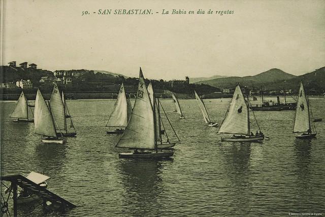 San Sebastián -  La Bahia en día de regatas