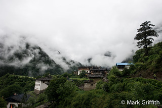 Yubeng in Clouds | by Mark Griffith