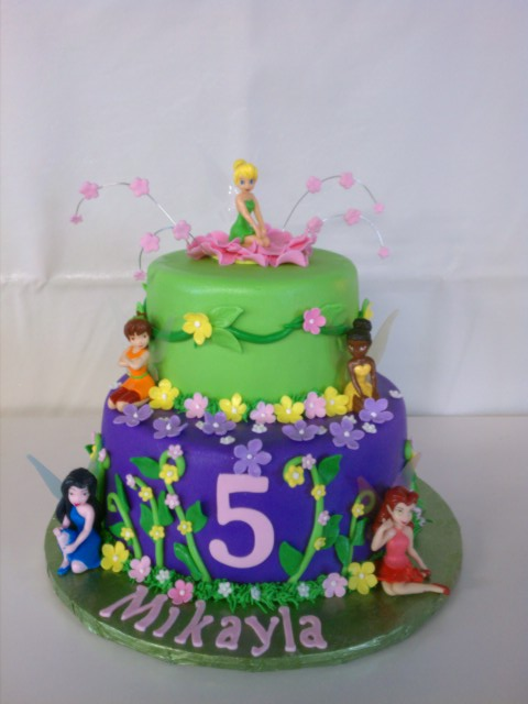 Tinkerbell and Friends Birthday Cake