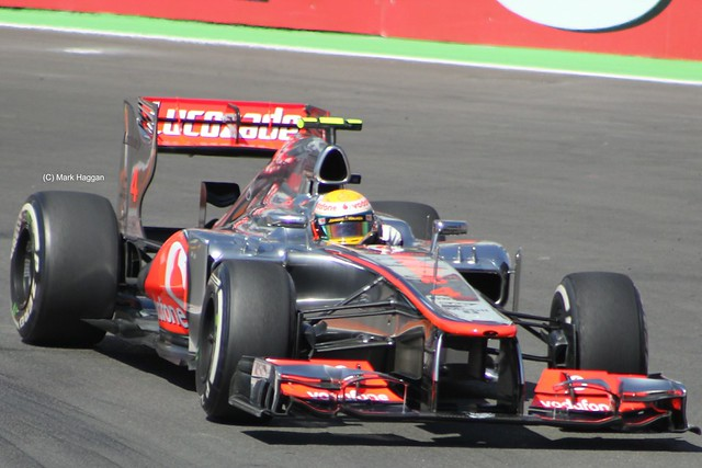 Lewis Hamilton in his McLaren F1 car at the 2012 European Grand Prix in Valencia