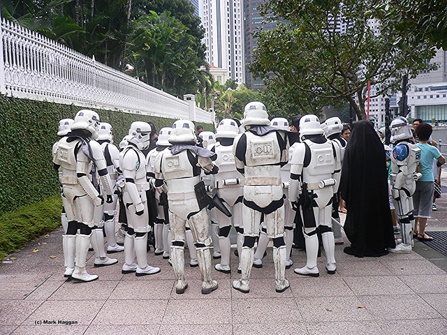 The Imperial Guard at the Singapore St Patrick's Day Parade, 2010