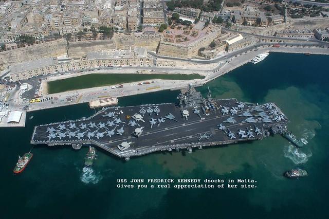 USS John F. Kennedy, Malta