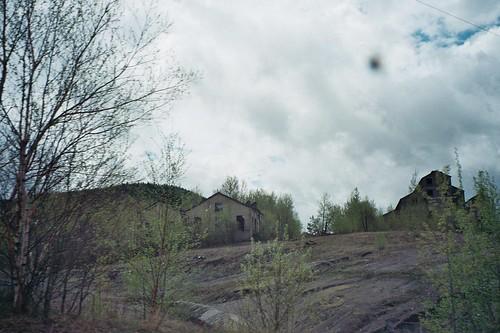 old mine site adirondack mountain iron springtime abandoned