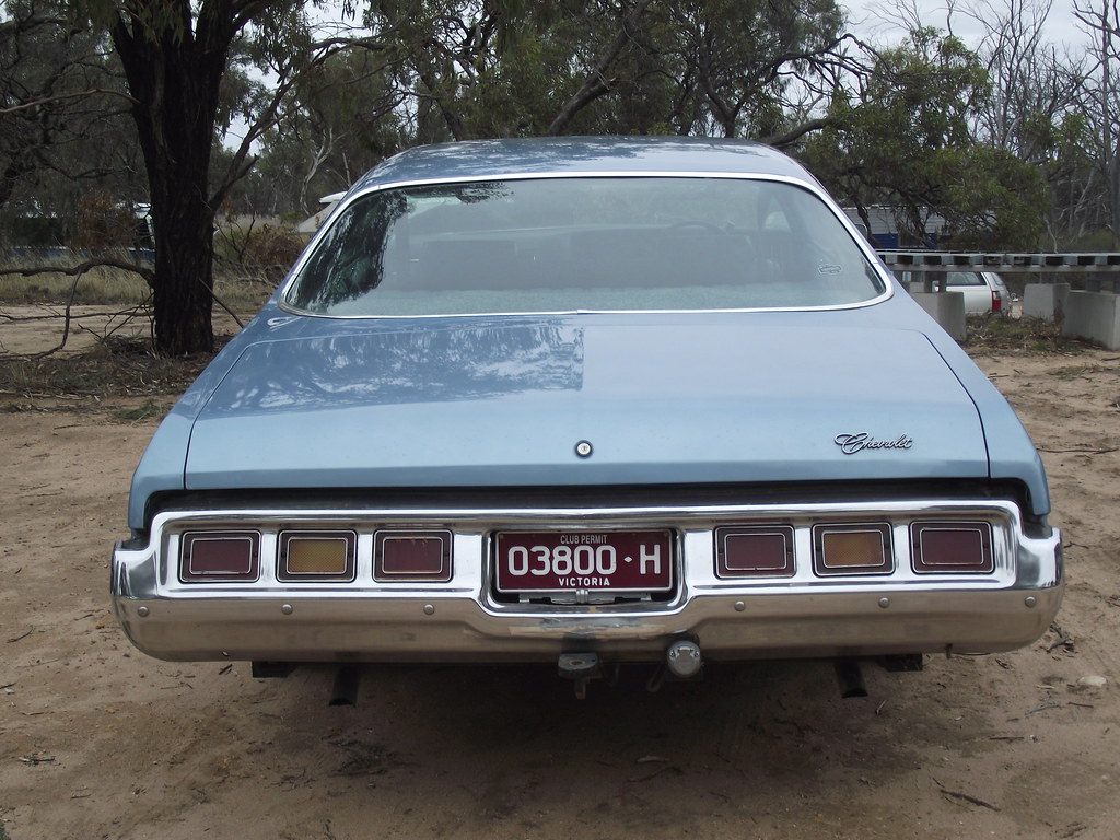 1973 Chevrolet Impala 4 Door Hardtop This Was Parked Outsi