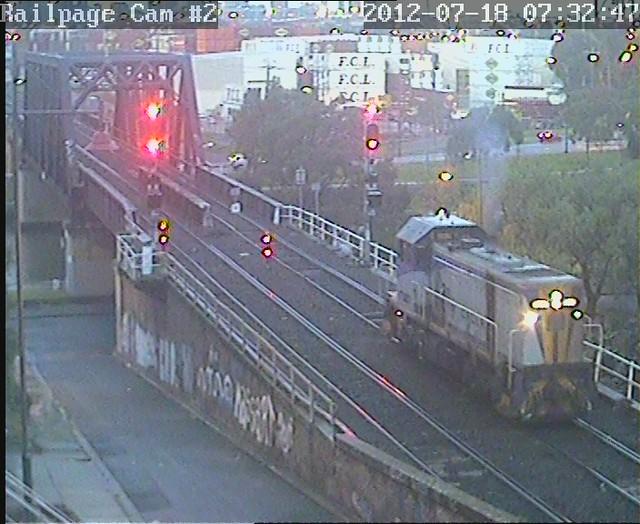 T387 Down via Bunbury Street 18-7-2012 by Railpage Bunbury Street