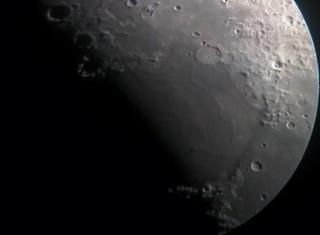 Moon Apr 21st 2018, sunrise revealing Mare Serentitatis and its inumerous Rimae