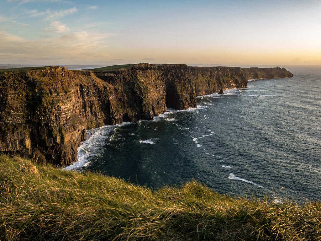 The Edge Of The World Cliffs Of Moher Ireland At Sunset Flickr