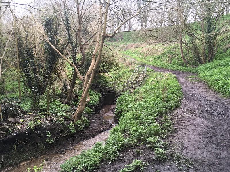 Coombe Brook goes underground