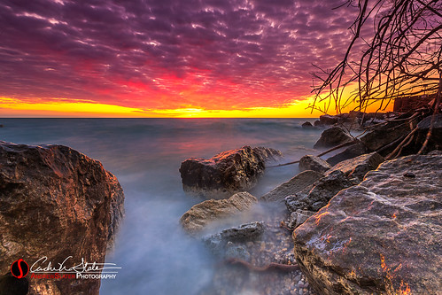 andrewslaterphotography boulder branch clouds greatlakes lakemichigan landscape nature oakcreek outdoors rocks southpoint sunrise water waves wisconsin unitedstates us canon 5dmarkiii discoverwisconsin travelwisconsin