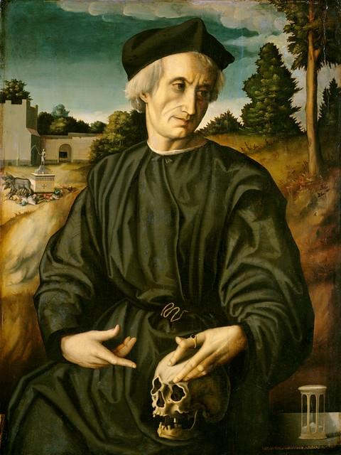 Francesco Ubertini, Bildnis des Papstes Hadrian VI. als Priester - Portrait of Pope Adrian VI. as a priest