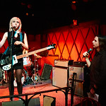Wed, 24/01/2018 - 8:26pm - Sunflower Bean - Julia Cumming, Nick Kivlen and Jacob Faber - perform for WFUV Public Radio at Rockwood Music Hall in New York City, 1/24/18. Hosted by Russ Borris. Photo by Gus Philippas/WFUV