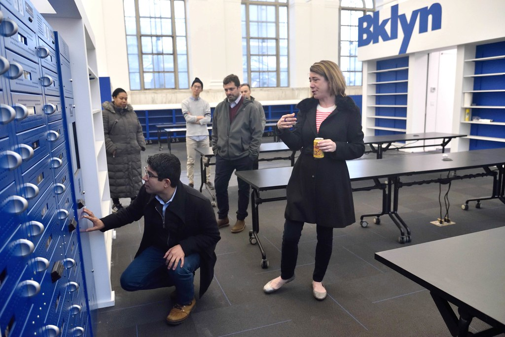 Council Member Carlos Menchaca Tours New Brooklyn Public L
