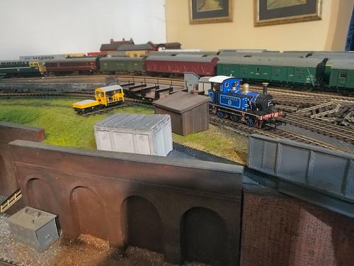 Hattons P Class 0-6-0T Bluebell on Maintenance Train - 1   by jeffrey.lynn