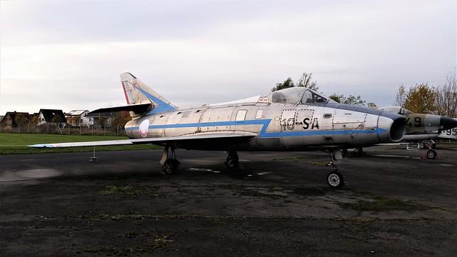 Super Mystère B-2 72/10-SA ex Armée de l'Air/ French Air Force. Preserved, Berlin-Gatow Luftwaffen Museum. 14 November 2017.