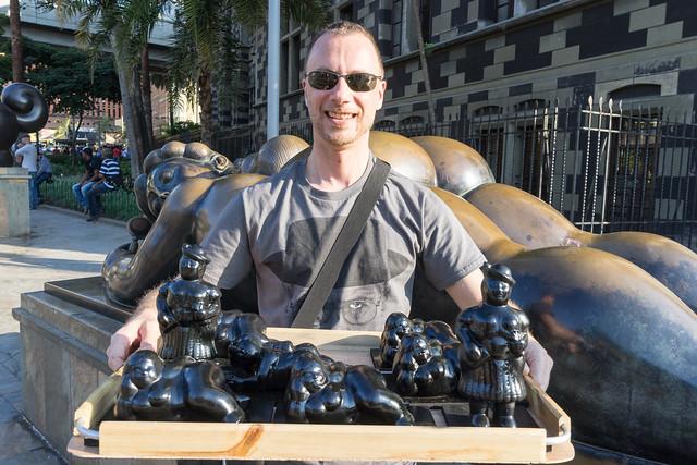 Selling Botero souvenirs :D