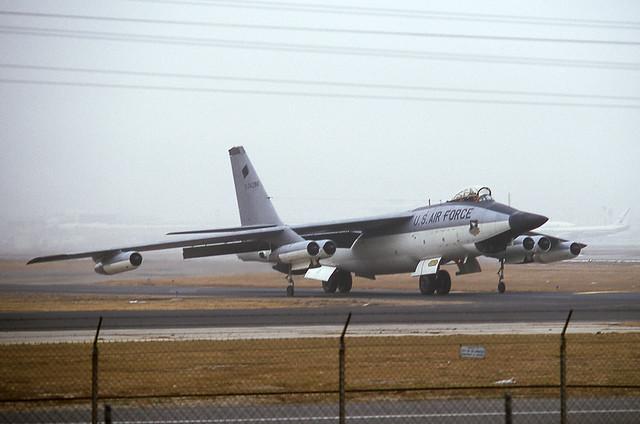 USAF - RB-47H - 53-4296 [Los Angeles 9.74] F-111 nose radar test - Last USAF B-47 to serve