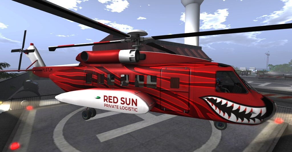 New RED SUN Sikorsky S92 Painting | I've got inspired this t