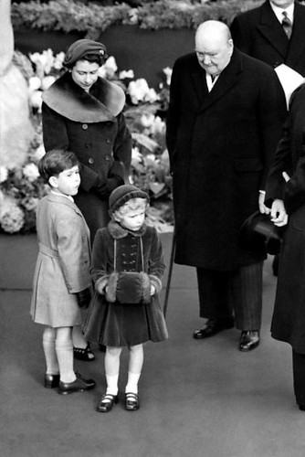 The Queen and Winston Churchill 24 Nov 1954