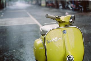 Yellow Vespa in the Rain | by Khánh Hmoong
