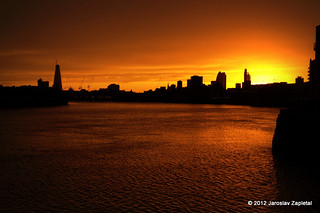 Golden sunset, Wapping,London,UK