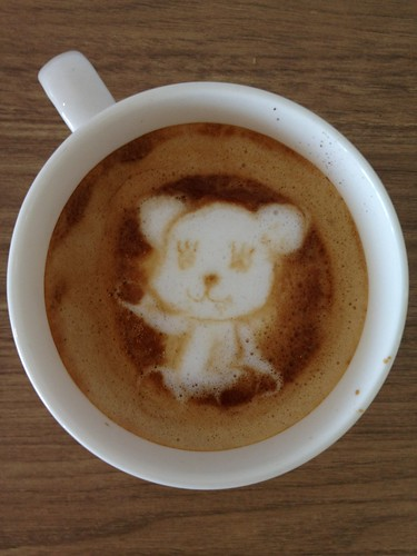 Today's latte, Momo the PostPet. | by yukop