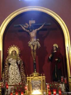 Cristo de la Sagrada Lanzada y Virgen de la Guia
