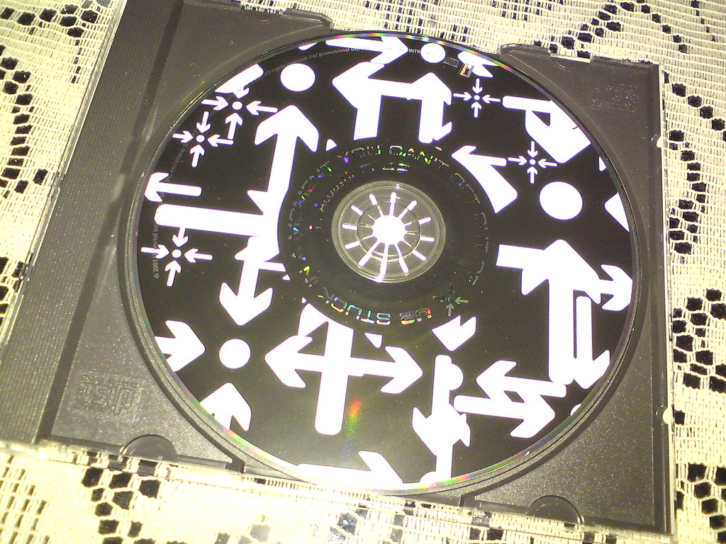 U2 Stuck In A Moment Acoustic USA Promo Back CD2 Stuck In