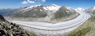 Extreme Environments: The Aletsch Glacier, the largest in the Alps, Switzerland