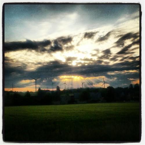 sky field clouds sunrise germany landscape deutschland saxony feld himmel wolken sachsen landschaft sonnenaufgang geithain instagram samsunggalaxynexus