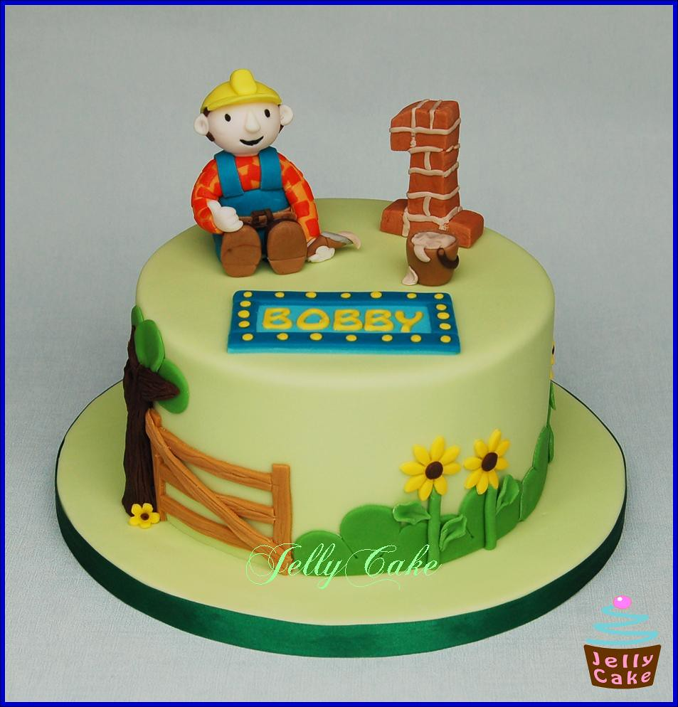 Fantastic Bob The Builder Birthday Cake A Bob The Builder Cake For B Flickr Funny Birthday Cards Online Elaedamsfinfo
