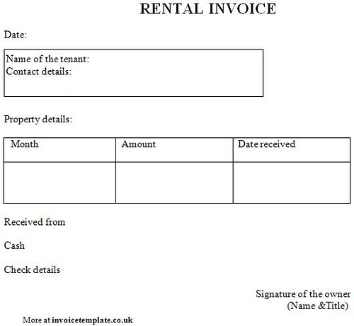 Rental Invoice Template For More Sample Invoice Templates Flickr