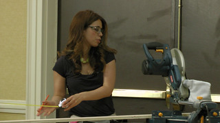 Ana and one of her power tools
