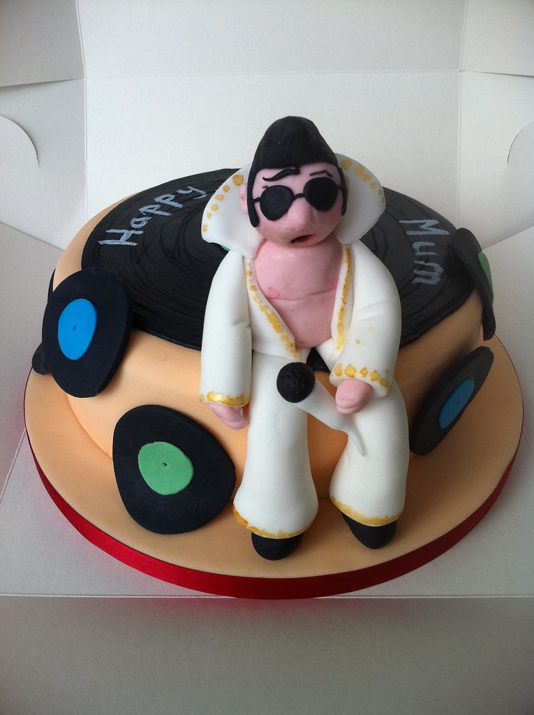 Brilliant Elvis Presley Birthday Cake The Cake Was Made For One Of Flickr Birthday Cards Printable Inklcafe Filternl