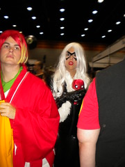 Storm/Cat Woman and the fire bird from Pokemon Heart Gold