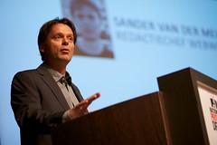 Sander van der Meijs (Webwereld) bij het Nationaal Privacy Debat