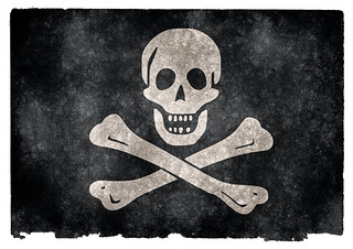 Jolly Roger Pirate Grunge Flag | by Free Grunge Textures - www.freestock.ca