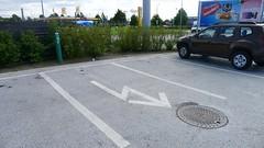 Max Hamburgare - Parkeringsplats för elbil
